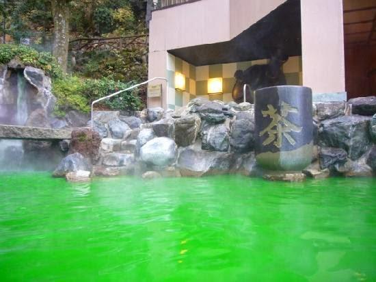 green+tea+onsen